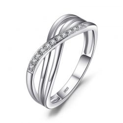 Anniversary Ring Eternity Band Silver 925 Jewelry