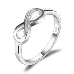 Infinity Anniversary Cubic Zirconia S925 Sterling Silver Rings