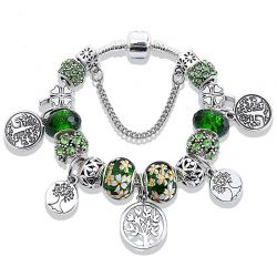 Green Tree of Life Bracelets&Bangles For Women