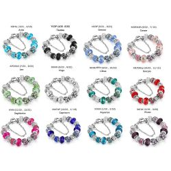 12 constellations fashion charm & bracelet for Women