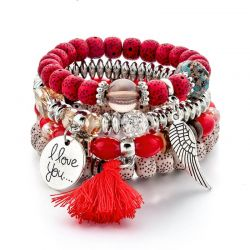 Handmade Angel Wings Bracelets For Women Tassel Bracelet Charms
