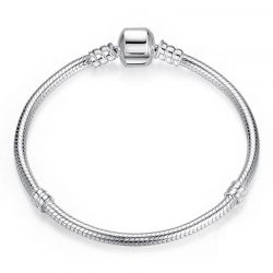 Authentic 100% 925 Sterling Silver Snake Chain  Bracelet for Women