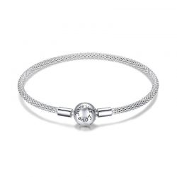 Classic 100% 925 Sterling Silver Love Forever  Chain Bracelet