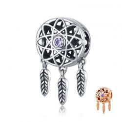 925 Sterling Silver Beautiful Dream Catcher Holder Beads