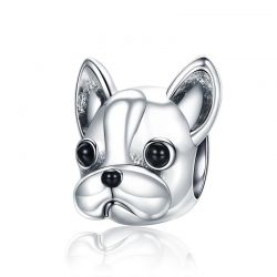 Silver French BULLDOG Doggy Animal Beads