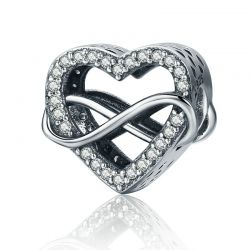 925 Sterling Silver Endless Love Infinity Love Charms Beads
