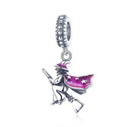 Authentic 100% 925 Sterling Silver Magic Witch Pendant Charms
