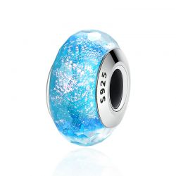 High Quality 925 Sterling Silver European Pattern Murano Glass Charm