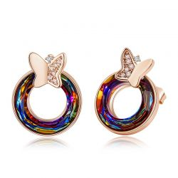 Butterfly Original  Swarovski crystal stud earrings