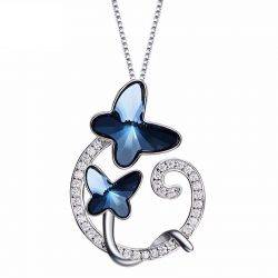 Butterfly Crystals from Swarovski Silver Pendants