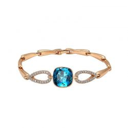 Gold Plated Crystals from Swarovski Bracelet for Women