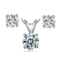 1ct Simulated Diamond CZ Stud Earrings 925 Sterling Silver