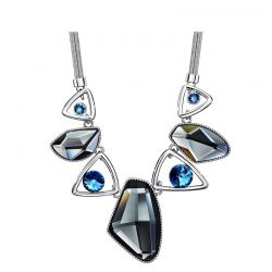 Geometric shape Swarovski crystal Pendant necklace