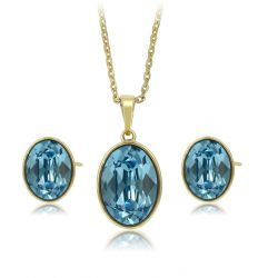 Oval Original Crystals from Swarovsk Jewelry set i