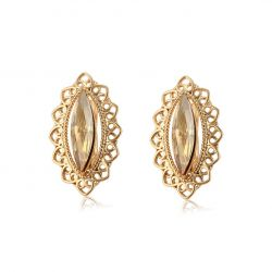 Swarovski Golden shadow crystal Clip earrings