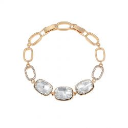 Triple Square shape  Swarovski crystal bracelet