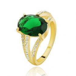 Fashion Ring AAA Zircon Czech Rhinestone Gold Plated