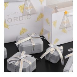 Grey Velvet Jewelry boxes for Gift wrapping