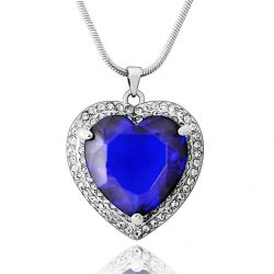 AAA Zircon Rhinestone Heart Necklaces Pendants & for Women