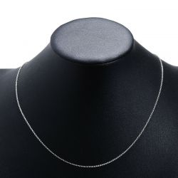 Pure 925 Silver Chain Link Necklace For Women