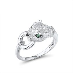 Panther S925 Sterling Silver Ring for women
