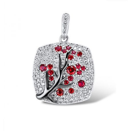 Greated Ruby Tree SIlver jewelry Pendant for Women