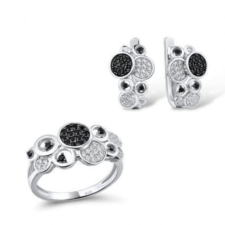 Black Spinel Sterling Silver Jewelry for Girls
