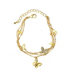 Beatiful Butterfly Multi Layered Bangles for Girls