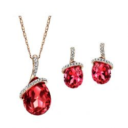 Austrian Rhinestone Crystal  Wedding Jewelry Set
