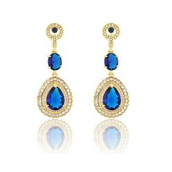 AAA Zircon Luxury Waterdrop Big Dangle Drop Earrings for Women