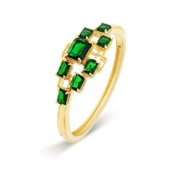 GreenAAA+ Grade Cubic Zirconia Bracelets & Bangles for Women Fashion Jewelry