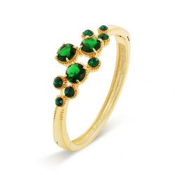 Green Cubic Zircon Gold plated bracelet Women Accessories