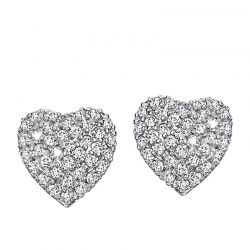 Fashion Jewelry Stud Earrings AAA Cubic Zircon Platinum plated