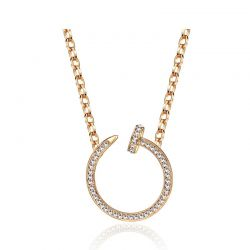 Women Jewelry Accessories Auden Rhinestone Rose Gold Plated Necklace & Pendants