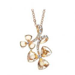 Rose Gold plated Austrian Rhinestone Crystal Pendant for Women