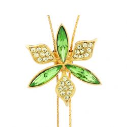 Flower Style Austrian Crystal Long Necklace pendant for Women