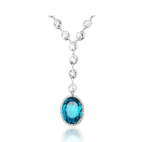 Platinum Plated  Austrian Rhinestone Crystal Necklaces & Pendants For Women