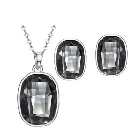 Platinum Plated MADE WITH SWAROVSKI ELEMENTS Crystal Jewelry Set