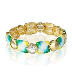 Fashion Bracelets & Bangles Crystal 14K Gold Plated Stoving Varnish