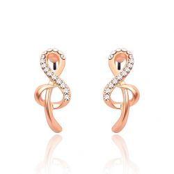 Musical Symbol Rose gold plated Stud Earrings for Girls