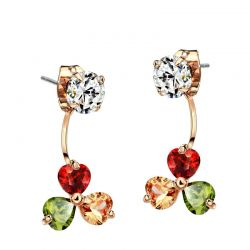 Rose Gold plated AAA zircon Multi-use Fashion Earrings