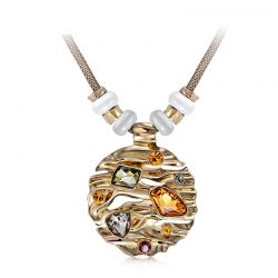 Top Crystal Austrian Rhinestone and Opal Stone Fashion Pendant necklace