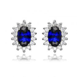 British Kate Princess Diana William Engagement Wedding Blue Sapphire Earrings