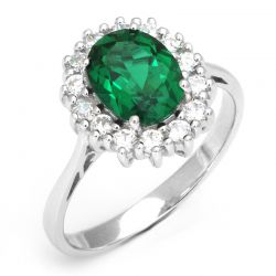 Nano Russian Emerald Ring Pure Solid 925 Sterling Silver