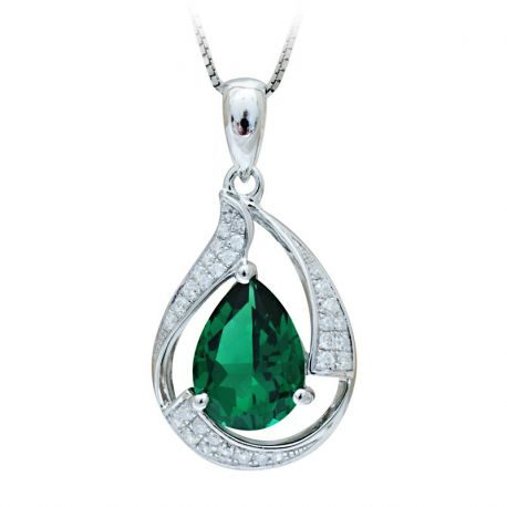 A gift nano russian emerald necklaces pendants set 925 sterling silver aloadofball Gallery