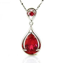 4.5 ct Pigeon Blood Red Ruby Pendant 925 Sterling Silver
