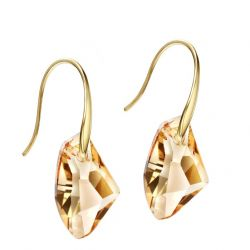 14K Gold Plated Yellow Austrian Crystal Dangle Earring for Women