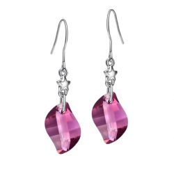 MADE WITH SWAROVSKI ELEMENTS Crystal Platinum Plated Charm Drop Earrings For Women