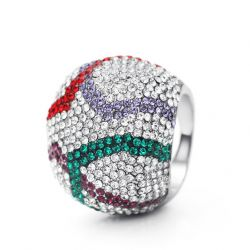 MADE WITH SWAROVSKI ELEMENTS Rhinestone Cocktail Ring for Women