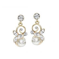 Simulated Pearl Drop Earrings for Women